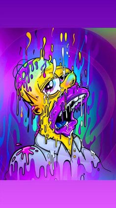 Wall paper iphone art weird New ideas Dope Wallpaper Iphone, Trippy Wallpaper, Dope Wallpapers, Graffiti Wallpaper, Trippy Cartoon, Dope Cartoon Art, Simpsons Drawings, Simpsons Art, Trippy Painting