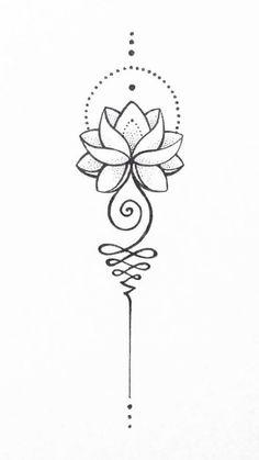 Unalome Lotus – – tattoo tatuagem – diy best tattoo images - tatoo feminina - New Ideas Spine Tattoos, Body Art Tattoos, Sleeve Tattoos, Tatoos, Boho Tattoos, Thigh Tattoos, Unalome Tattoo, Unalome Symbol, Small Tattoo Designs