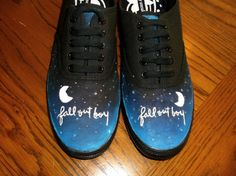 Fall Out Boy Shoes || Hand Painted (Really pretty, but not one thing I really need.... ;) )
