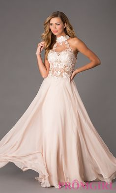 Image of Dave and Johnny Corset Top High Neck Gown Style: DJ-1007 Front Imagehttp://www.promgirl.com/shop/dresses/viewitem-PD1300516