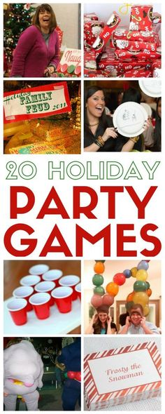 Fun family or group party games for Christmas. 20 easy DIY tutorial ideas perfect for any holiday gathering. Laugh, Play and have fun together.