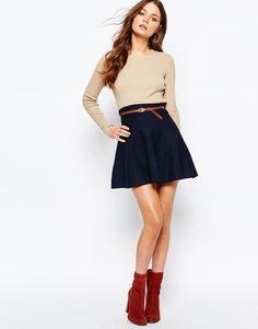 New+Look+Belted+Skater+Skirt