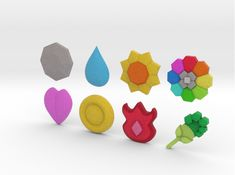 Check out Pokemon Gym Badges - Kanto by thehiddenice on Shapeways and discover more 3D printed products in Toys.