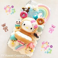 Black Kitty vs  tokidoki Donutella Silicone Phone Case for IPhone 4 or 5 or Samsung S2 S3 S4