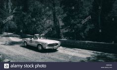Download this stock image: mercedes M.B. 230 SL 1966 on an old racing car in rally Mille Miglia 2017 the famous italian historical race (1927-1957) on May 19 2017 - KB5H6G from Alamy's library of millions of high resolution stock photos, illustrations and vectors.