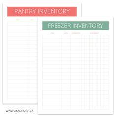 Printable Freezer Inventory List  Free Printables
