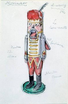"""Design for """"The Nutcracker"""" by Alexandre Benois, 1957. (Victoria and Albert Museum, London)"""