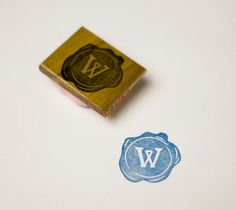 Personalized Wax Seal Hand Carved Stamp by doodlebugdesign on Etsy