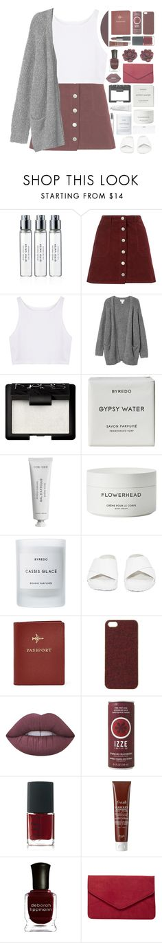 """≪ white lips, pale face"" by xhopefulromanticx ❤ liked on Polyvore featuring Byredo, Miss Selfridge, Monki, NARS Cosmetics, Conair, Jeffrey Campbell, FOSSIL, Scotch & Soda, Lime Crime and Fresh"