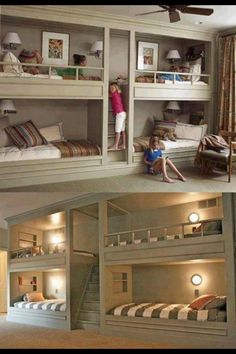 Bedroom for 4 kids...cool way to do it!