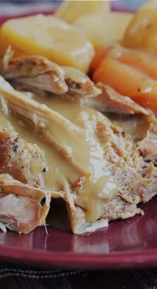 Crock Pot Pork Roast with Vegetables and Gravy