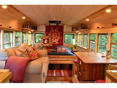 Home on Wheels!  This 1991 72-passenger International Diesel School Bus (with rebuilt engine) has  ...