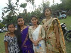 Assamese girl wearing Mekhala Chador
