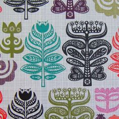 folk trees | paperchase, love these patterns and the ways the print is used are very charming