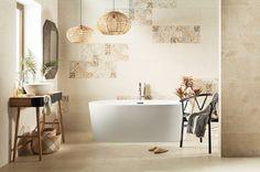 Jemná a světlá série dlažeb a obkladů do koupelny Free Space se zajímavými dekory osloví nejednoho milovníka světlých prostorů. #keramikasoukup #koupelnyodsoukupa #freespace #inspirace #inspiration #inspo #bathroom #koupelnyinspirace #free Series Free, Free Space, Coron, Clawfoot Bathtub, Design Web, Oslo, Toilet, Bathroom, Bath