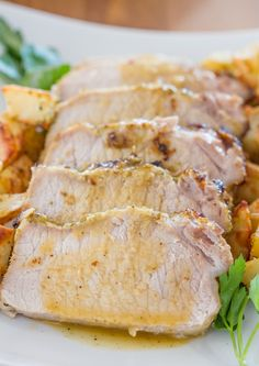 Lemon Garlic Roasted Pork Loin - The lemon and garlic marinade is wonderful and gives amazing taste to the pork loin.