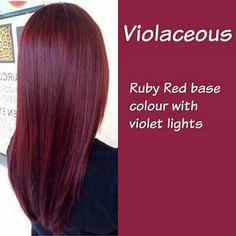 Violaceous hair color