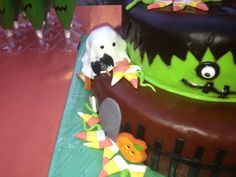 side of the cake