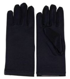 Fancy Girl's Satin Wrist Length Gloves (Girls Age 0-3, Black), many colors and sizes