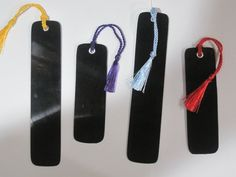 Upcycled Vinyl Record Album Bookmark w/ tassel by RecyclingTime, $3.50