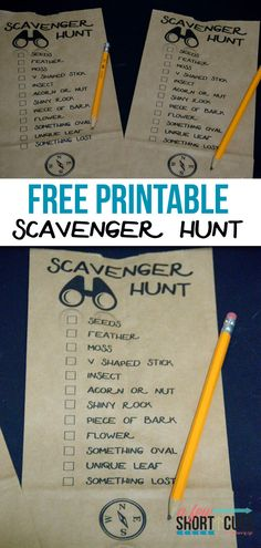 A fun way to spend an afternoon or a great addition to a party! Check out this FREE Printable Outdoor Scavenger Hunt!