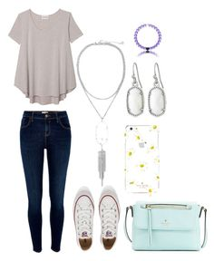 """""""Untitled #285"""" by mkhays on Polyvore featuring Olive + Oak, River Island, Converse, Kate Spade and Kendra Scott"""