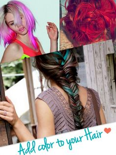 Dyed Another Day #Rainbow #HairTrends #HairStyles