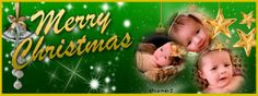Green & Gold Christmas Facebook cover. Merry Christmas! You can add your own photos to this if you click through. From www.imikimi.com.  #green #facebook #coverphoto #seasonsgreetings #merry #christmas