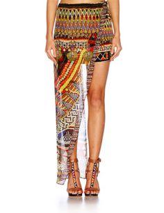 CAMILLA Beads of Love Asymmetrical Overlay Skirt