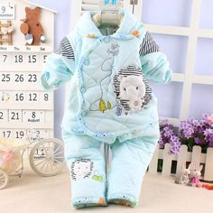 Single Breasted Newborn Baby Clothes for Girls Boys Kids Autumn Winter