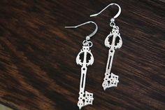 3.5$ silver Kingdom Hearts Oblivion Keyblade Pendant earrings