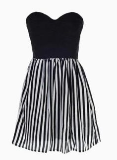 striped sweetheart dress. I love it. Reminds me of beetlejuice