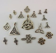 Lot of 18 Silver plated Celtic Knots Claddagh by celtictreasures