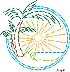 Tropics Mandala Painting, Dot Painting, Mandala Art, Rhinestone Transfers, Fun Diy Crafts, Border Design, String Art, Print Pictures, Couture