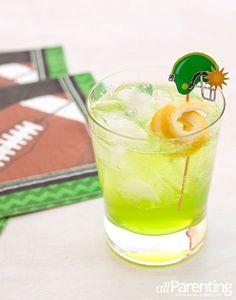 Screamin' Seahawks: Vodka, Midori, Lemon Juice, Club Soda, Lemon Twist.