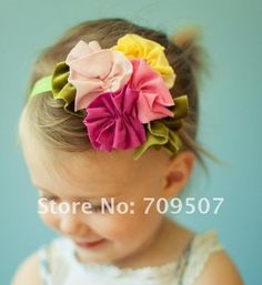 baby hair headbands accessories elastic girl yellow bird yellow flower