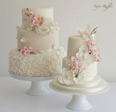 Pasteles de boda del flor de cereza