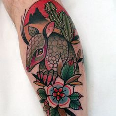 Armadillo tattoo