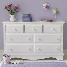 Kids' Dressers: Kids 7-Drawer White Walden Dresser in Dressers | The Land of Nod