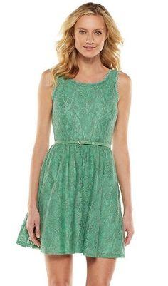 LC Lauren Conrad Lace Fit & Flare Dress - Women's #Kohls