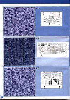 177 pattern for knittings stitch Knit Purl Stitches, Knitting Stiches, Knitting Charts, Baby Knitting, Knitting Machine Patterns, Stitch Patterns, Knitting Patterns, How To Purl Knit, Knitting Designs