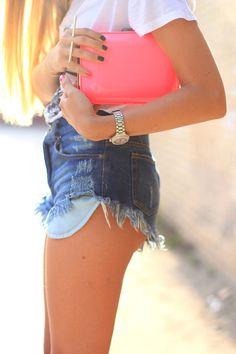 #jean shorts  Jeans Shorts #2dayslook #JeansShorts  #ramirez701 www.2dayslook.com