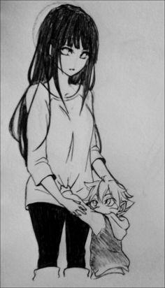 Naruto - Bolt and Hinata - Sketch