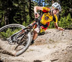 https://flic.kr/p/w6t5bL | Moment of Truth | Taking a hard fall at the 2015 USA Cycling Mountain Bike National Championships at Mammoth Mountain, CA. She picked herself up, dusted off, and rode away.  Galleries: www.pbcreativephoto.com  Strobist: One bare Quantum Qflash camera right, opposite side of course. Triggered with PW Mini/Flex.