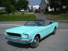 Ford : Mustang Base 1966 FORD MUSTANG CONVERTIBLE NUMBERS MATCHING CLEAR TITLE RUNS AND DRIVES.  AT