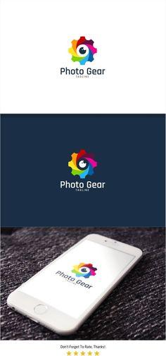 Photo Gear Logo by PC Design on @creativemarket