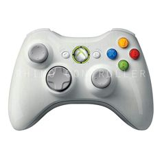 XBOX 360 controller Wireless Glossy WTP-248-Silver-Streaks Custom Painted- Without Mods