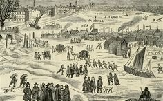 Between the 15th and 19th centuries, the River Thames often froze over in cold weather, and the people of London would set up stalls on the ice for an impromptu fair. Other attractions included football, skating and bull and bear baiting. Supposedly, even Elizabeth I once paid a visit.