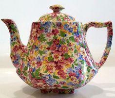 James Kent Chintz Apple Blossom Teapot Melrose Shape
