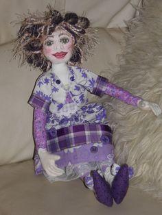 Handmade Cloth/Fabric Art Doll OOAK by sherimusum on Etsy, $195.00